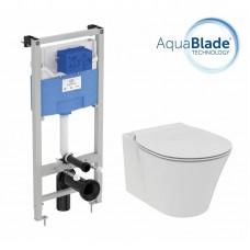 Комплект инсталляции и унитаза Ideal Standard Connect Air AquaBlade E212101