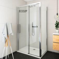 Exclusive Line душевая дверь раздвижная ECD2P/150, черный/прозрачный
