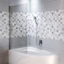 NOVIK шторка ванны Z108 Lyra 140/153.5*/170 L, хром/прозрачный