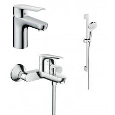 Набор смесителей Hansgrohe Logis E100C для ванны и раковины